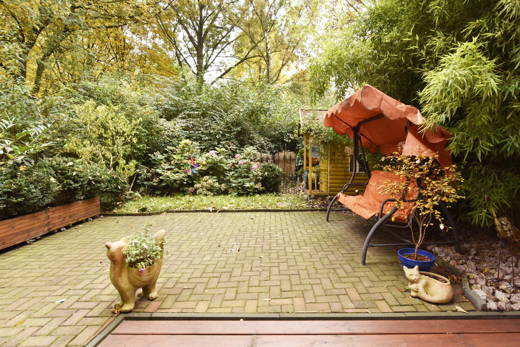 Eigener Garten mit Parkblick
